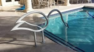 Image result for creative pool handrails | Pool | Pool rails, Pool ...