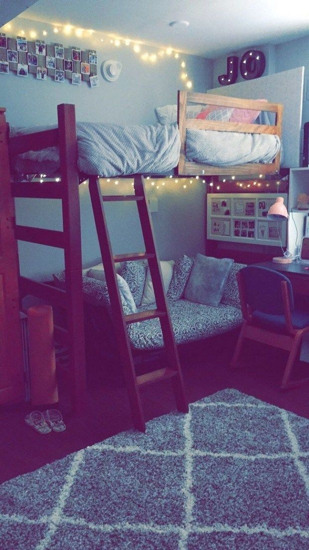 40 cute loft beds college dorm room design ideas for girl 12 #dormroomideas #dormroom images