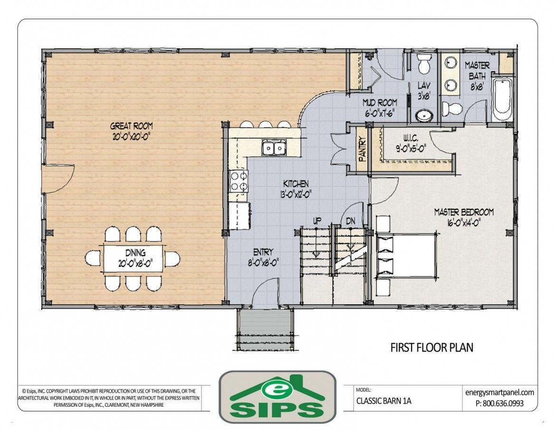 Open Floor Plan Concept Barn Kitchen Floor Planner Kitchen white ...