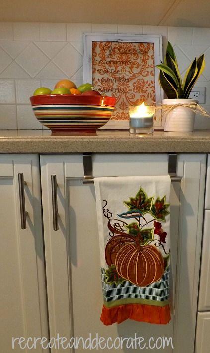Fall Kitchen vignette — Recreate and Decorate
