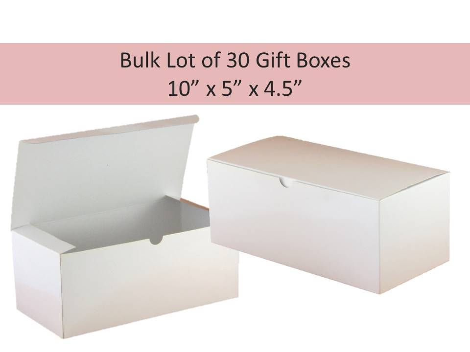 30 Gift Bo Bulk Lot White Glware Box Baptism Favor Wedding