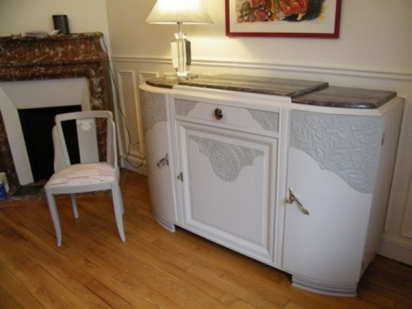 meuble art d co peint levallois perret wood design pinterest buffet refurbished. Black Bedroom Furniture Sets. Home Design Ideas