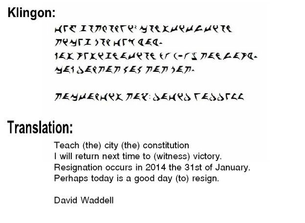 This is a real thing that happened in our local politics  - new resignation letter format for a teacher
