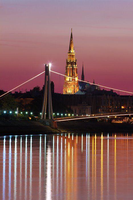 Osijek U Noci Osijek Croatia Vukovar