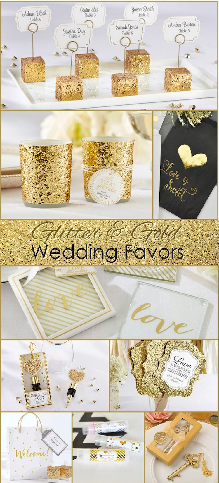 Over 100 Gold Wedding Theme Ideas, We love the Glittery Wedding ...