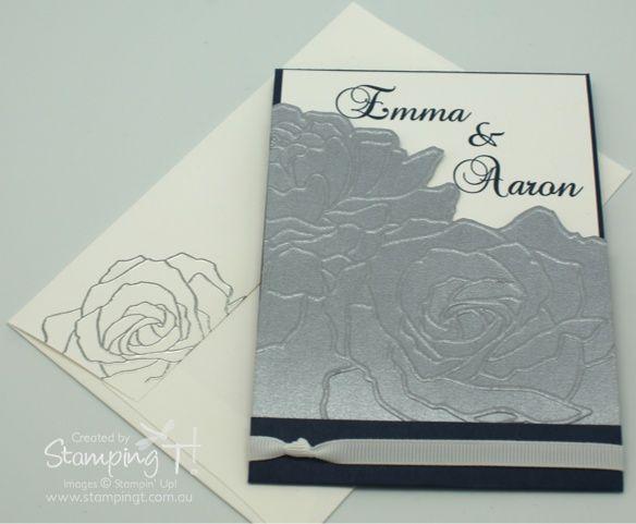 Stampin Up Stamping T Wedding Invitation Manhattan Rose