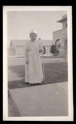 HALLOWEEN-MASK-FAIRY-GODMOTHER-COSTUME-GIRL-1940-VINTAGE-PHOTO-LOT