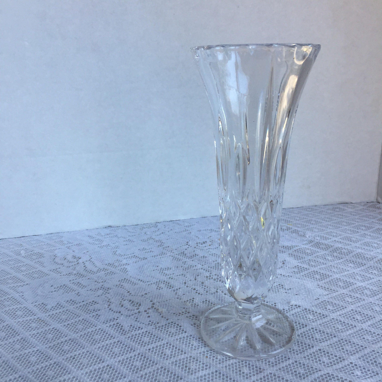 Vintage cut glass bud vase wedding decor party decor glass vintage cut glass bud vase wedding decor party decor glass centerpiece by vintagepoetic reviewsmspy
