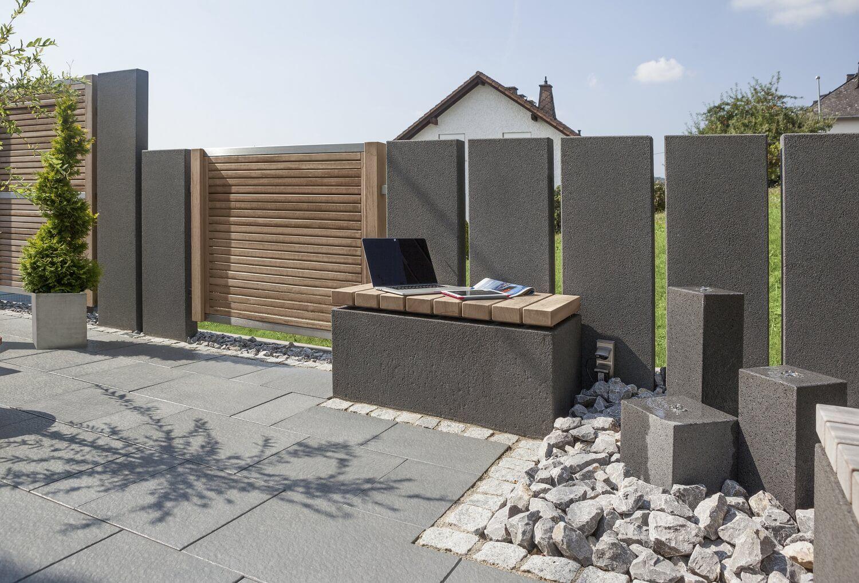 Mauern Und Stelen Als Sichtschutz Inspiration Von Rinn Beton