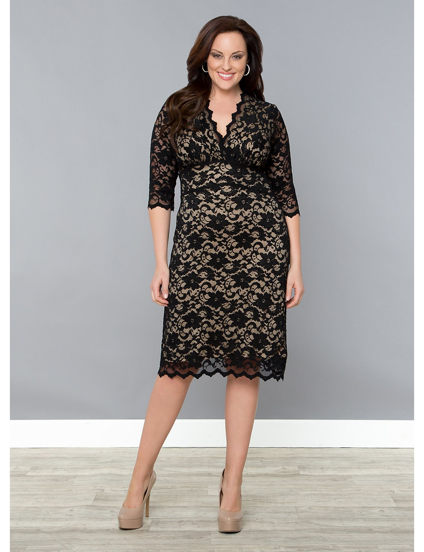 Scalloped Boudoir Lace Dress | Lane Bryant | You Can\'t Elope, Honey ...