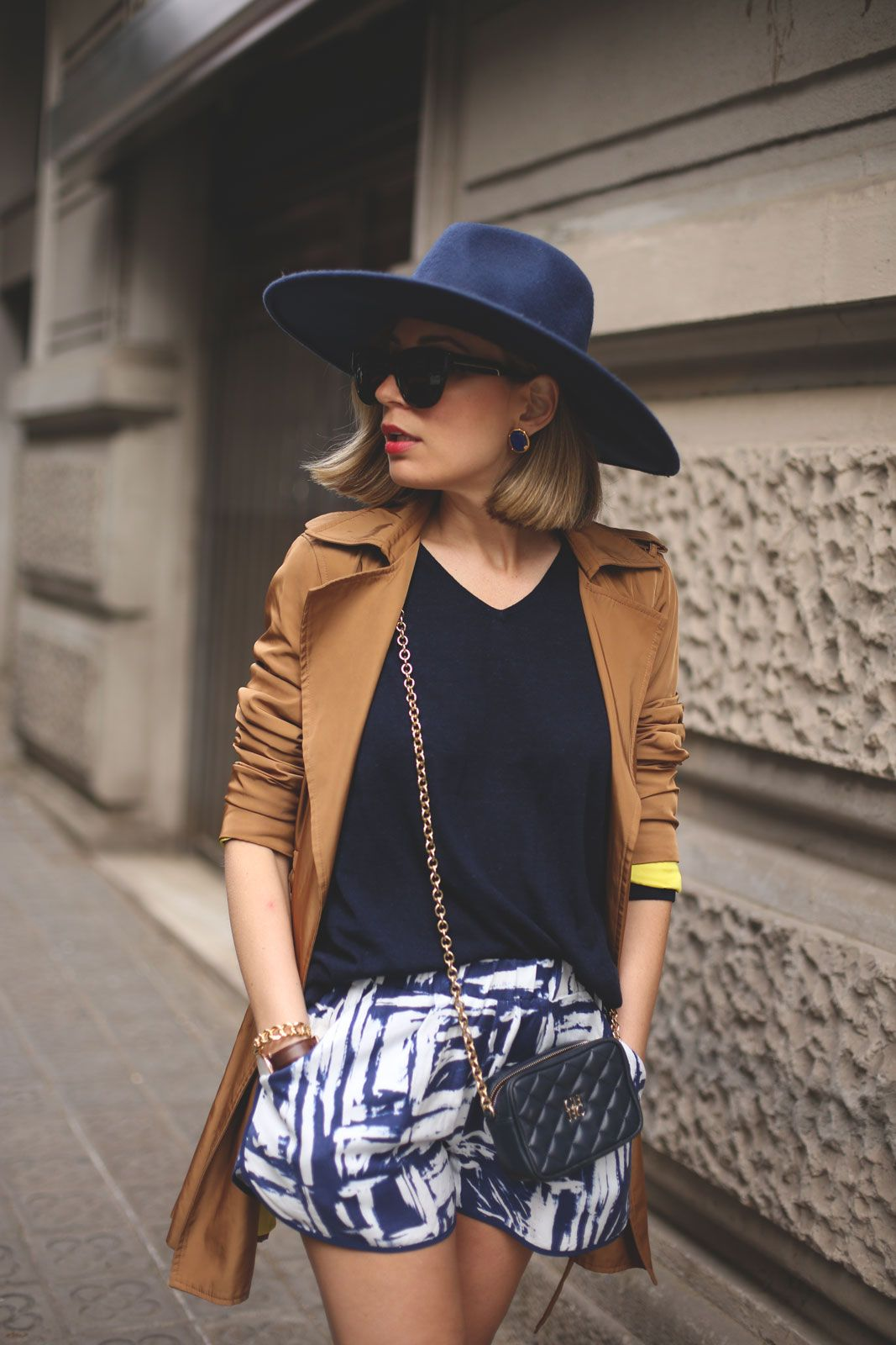 Navy Blue and Camel - My Showroom
