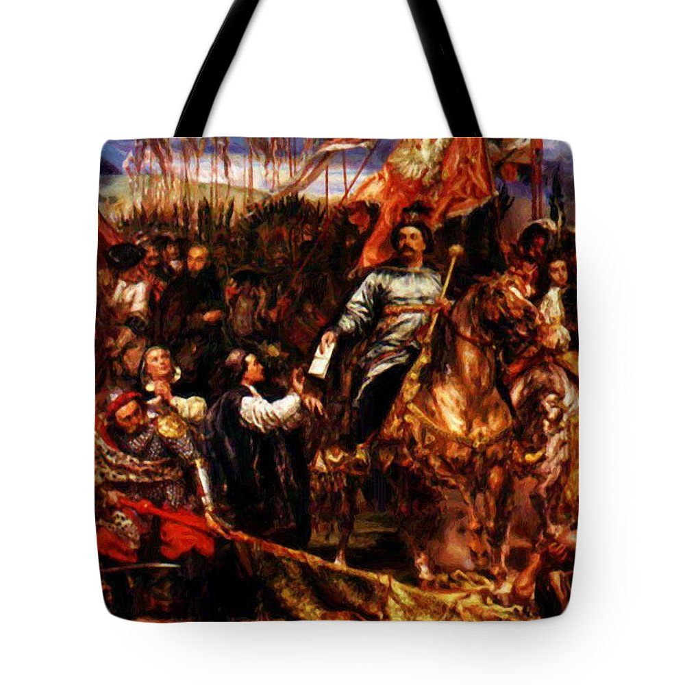 """New artwork for sale! """" Sobieski At Vienna Tote Bag by"""