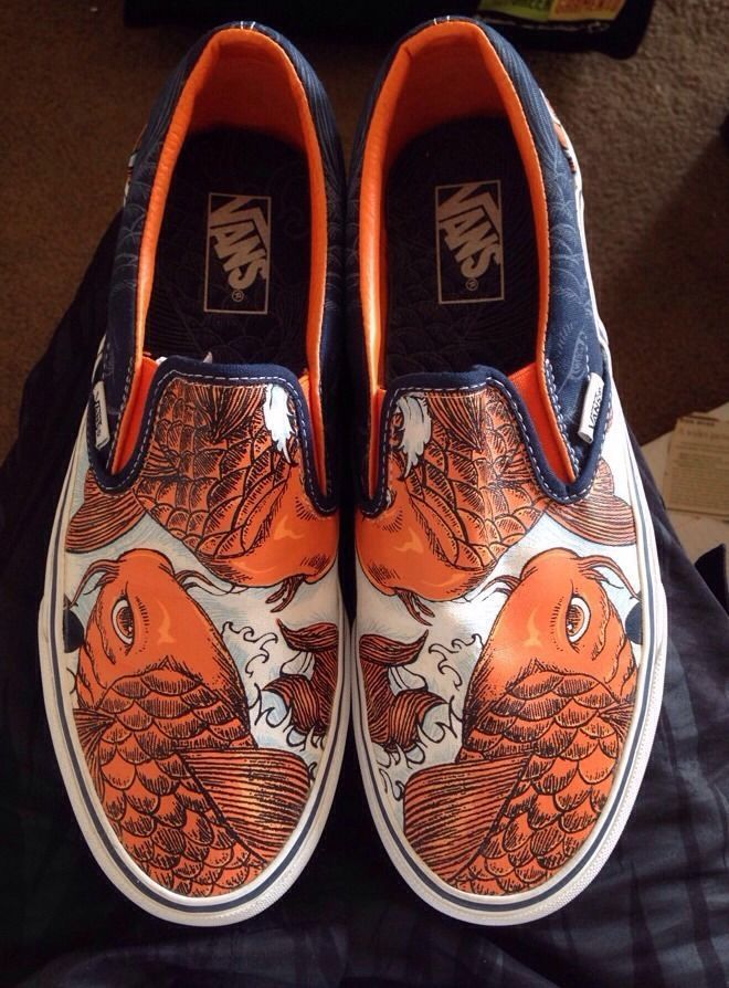 b8ed79ced0 Vans Off The Wall Slip On Shoes COY (KOI) FISH
