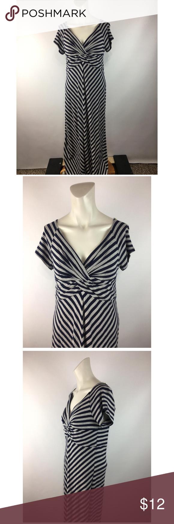 Cha Cha Vente Striped Stretchy Soft Maxi Dress Maxi Dress Clothes Design Dresses [ 1740 x 580 Pixel ]