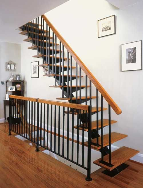 The Iron Shop Series 42 Floating Stair Kit With Optional Oak Treads From  Waybuild