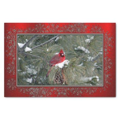 Cardinal 3093 frame Tissue Paper Tissue paper and Cardinals