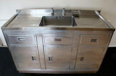 Beautifully Restored Paul Millersdale Retro 1950s Aluminium Kitchen