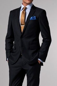 Vincero Charcoal & White Pinstripe Suit