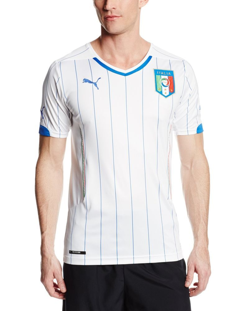 separation shoes e8a4f a8247 Puma Men's FIGC Italia Italy Away World Soccer Jersey Shirt ...