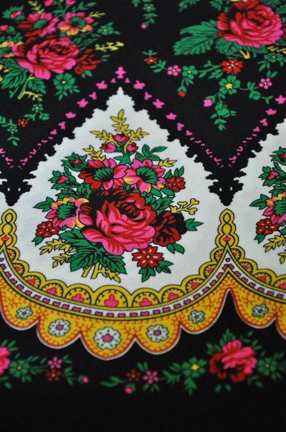 Tkaniny Goralskie Ludowe Folk Serca Szpice Hit Tapestry Painting Fabric