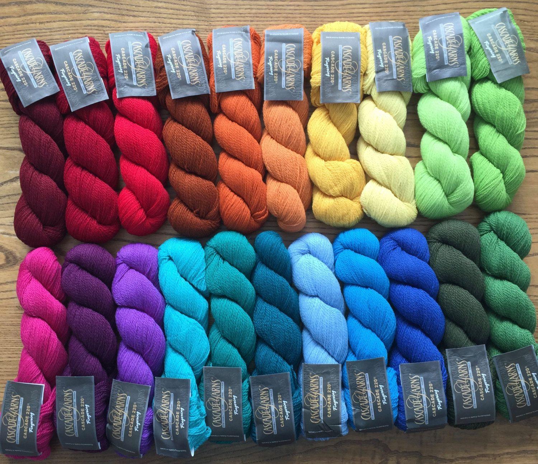 temperature blanket yarn rainbow yarn color pack by SkeinandHook ...