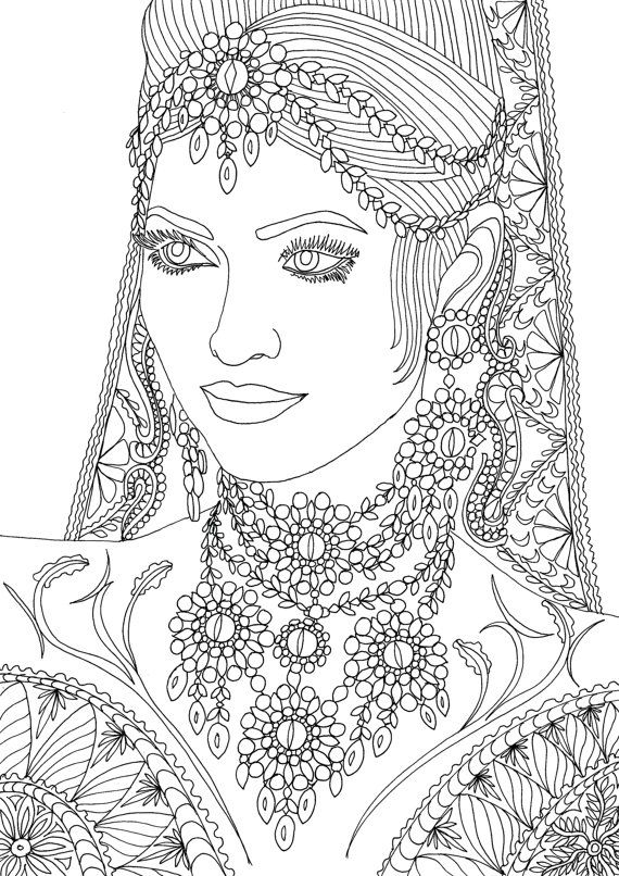 Coloring Pages For Adults Faces : Adult coloring book printable pages by