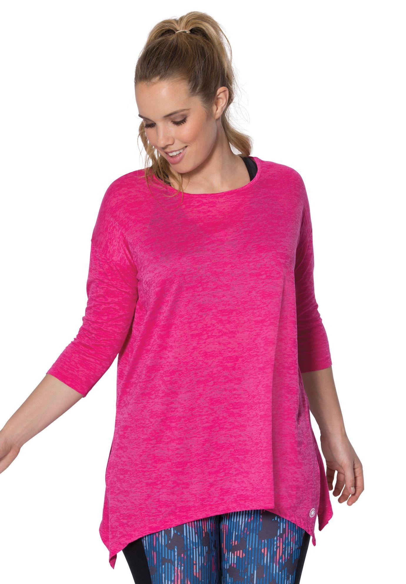 11b959d1cef Scoop neck burnout tunic by fullbeauty SPORT - Women's Plus Size Clothing