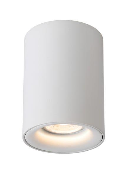 spot gu10 aluminium blanc lucide bentoo rond  leroy
