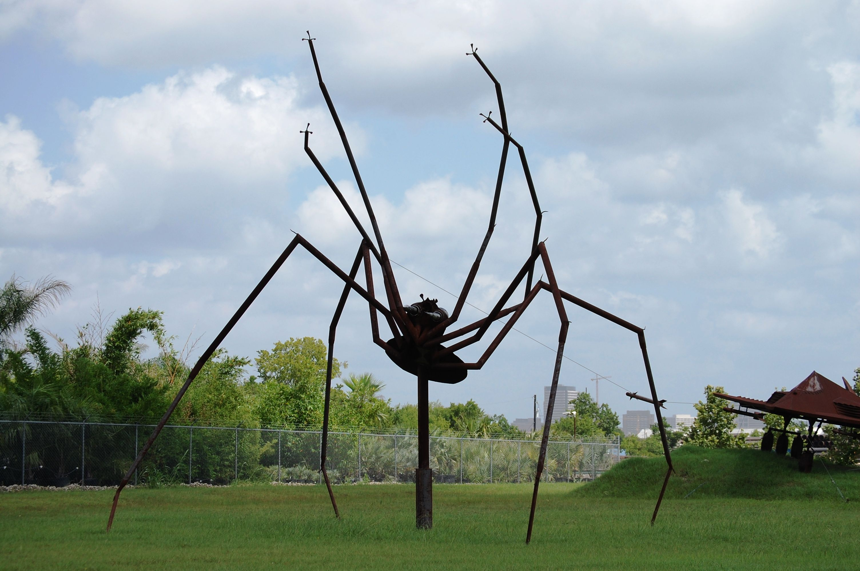 Huge scary spider - one of many giant scrap metal animals at