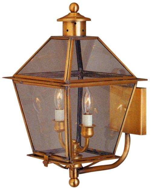 Carolina Colonial Copper Lantern Wall Light With Bracket Copper Lantern Wall Lights Brass Lighting