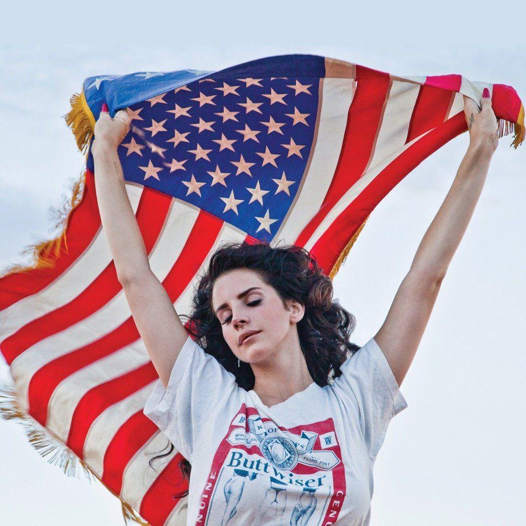 Lana Del Rey American Flag Sweater