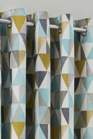 Buy Textured Geo Print Eyelet Curtains from the Next UK online shop ...