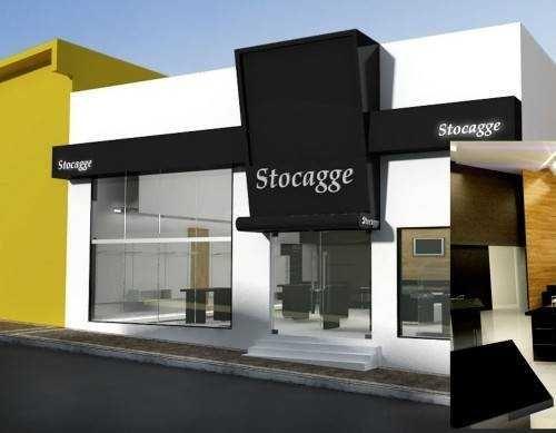 Fachada de loja comercial projeto comercial pinterest for Fachadas de almacenes modernos
