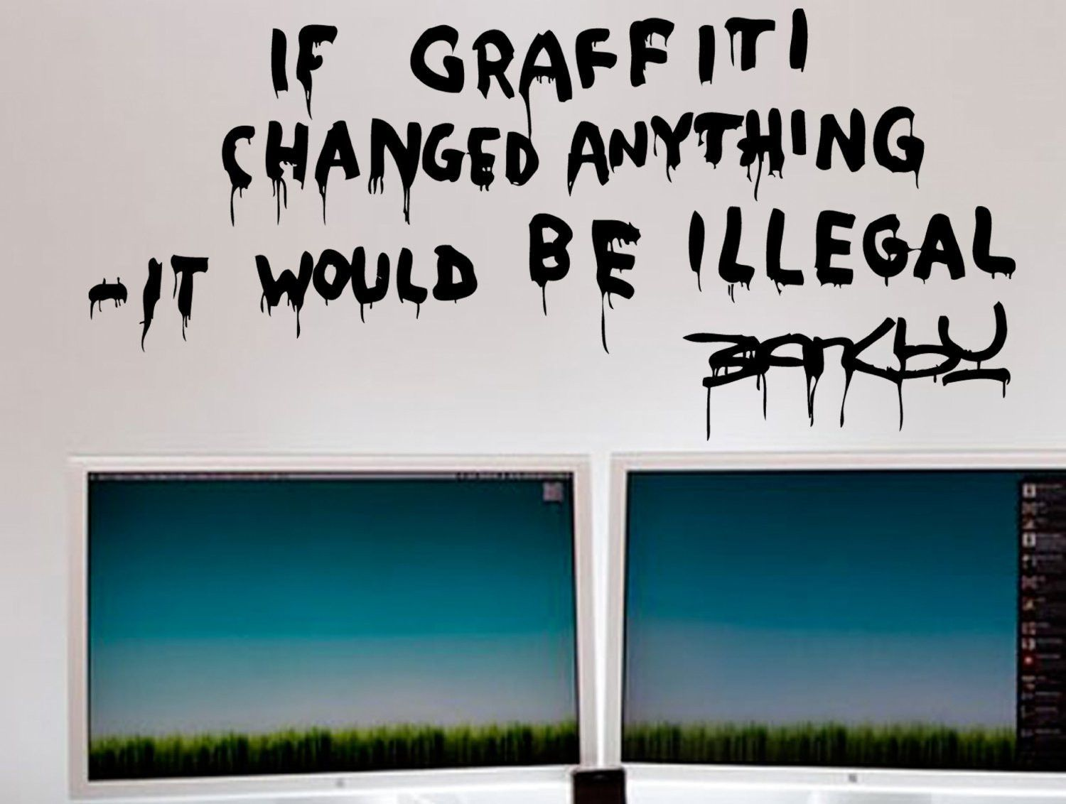 banksy wall decal inspirational quote banksy graffiti and banksy wall decal inspirational quote