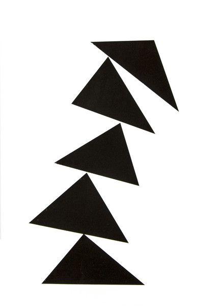 Siebdruck - DREIECK Siebdruck A3 Plakat Geometrisch Abstrakt - ein