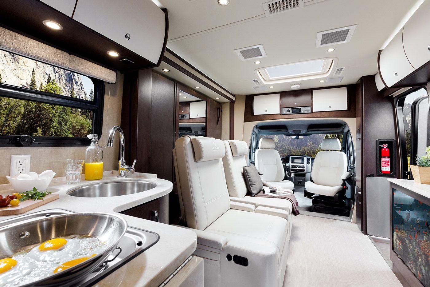 Motorhome Interior Design Leisure Travel Van Unity 24Bm  Leisure Travel Unity Murphy Bed