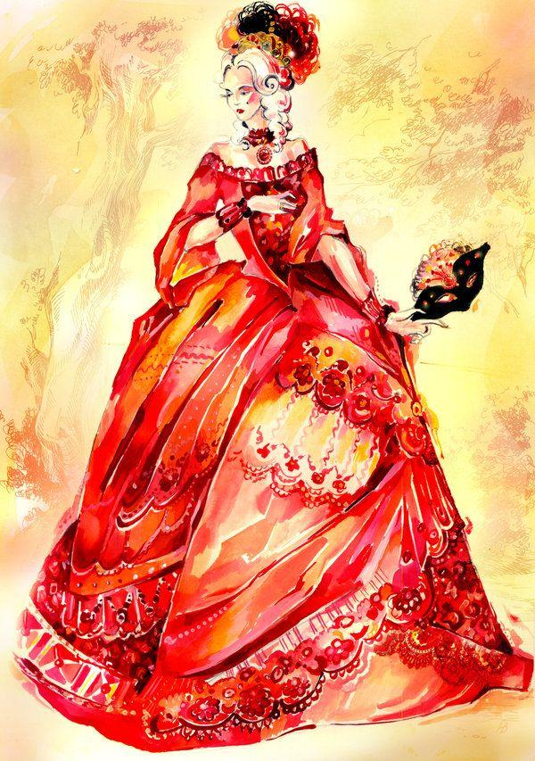 250ad92d27ef Chrimson Masquerade Dress by ~Callista1981 on deviantART | Art ...