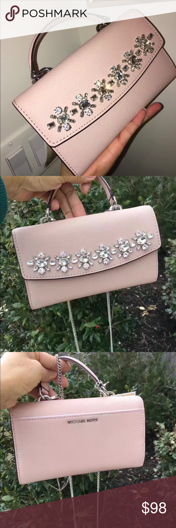 6fe84ebcf354 MK Ava Jewel Large Phone Crossbody each for  98 This saffiano leather  crossbody bag from MICHAEL