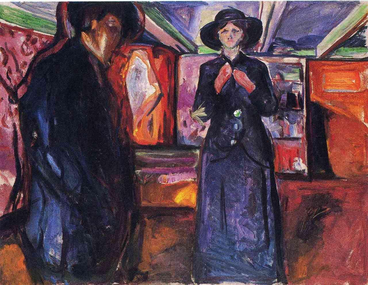 Edvard Munch, Mann og kvinne II (Man and Woman II), 1912-1915