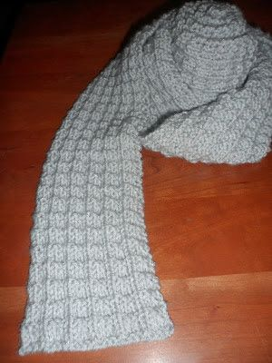 A Stitch At A Time For Amy B Stitched Ribbed Knit Scarf Pattern
