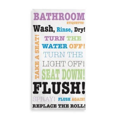 BATHROOM RULES Wash Brush Flush HP Kids SIGN PLAQUE