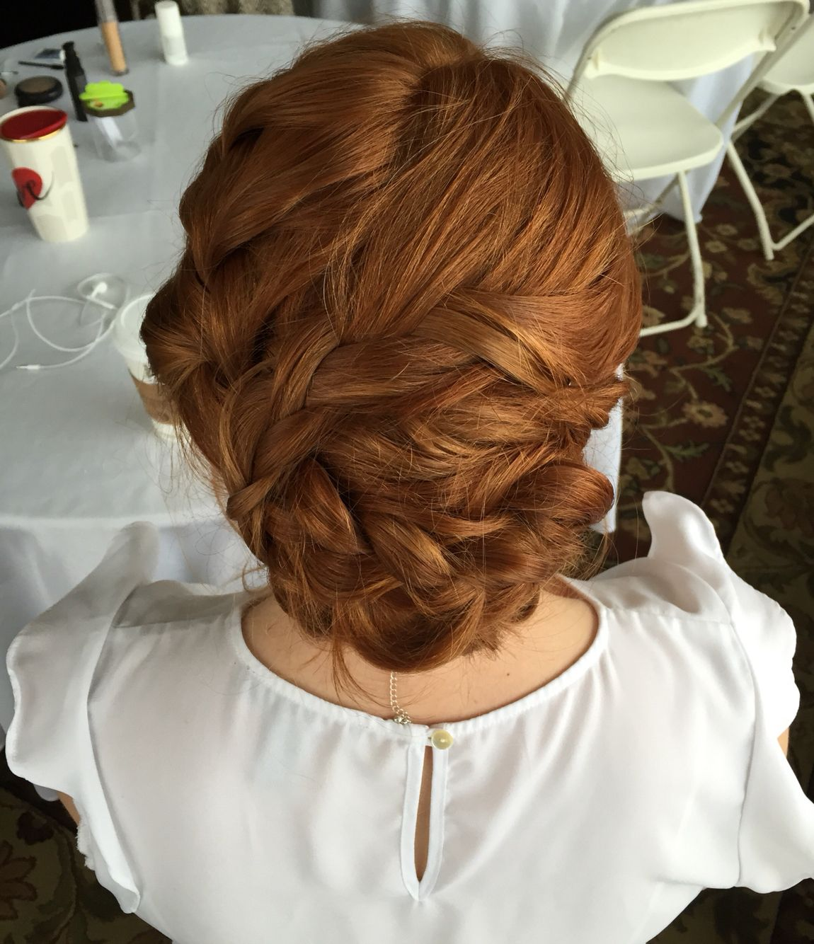 by dori wetzel @ blue salon, reno wedding updo, bridal hair