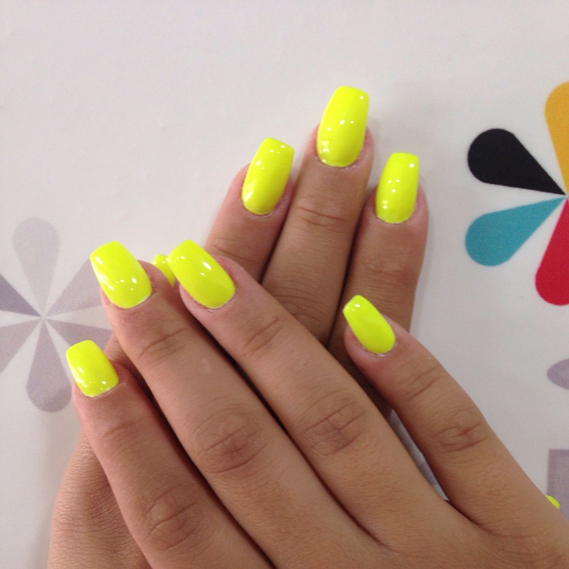 Neon Yellow Nails With Images Neon Yellow Nails
