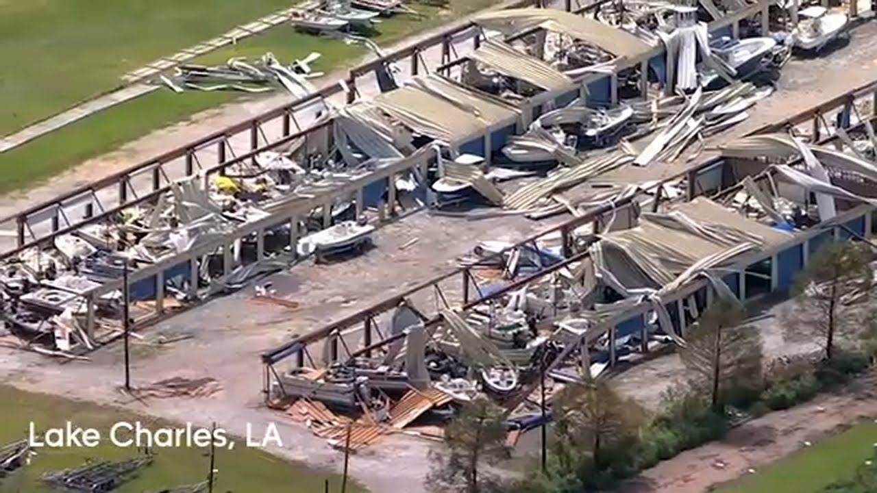 Skyeye Video Tour Of Damage From Hurricane Laura In 2020 Tours Orleans Damaged
