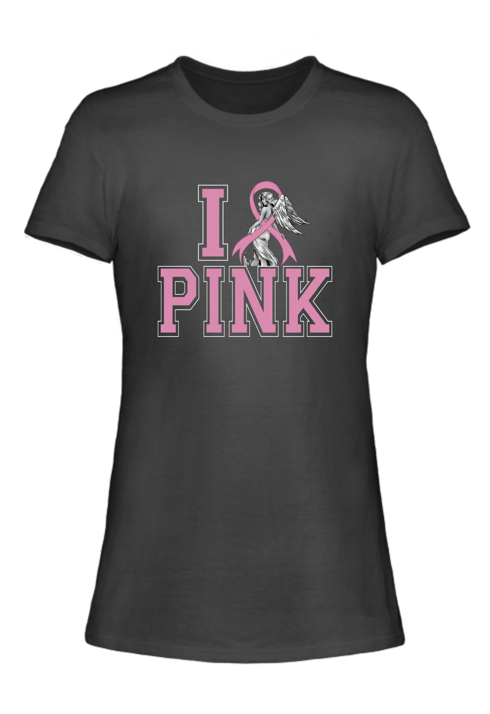 I Love Pink Breast Cancer Awareness T-Shirt