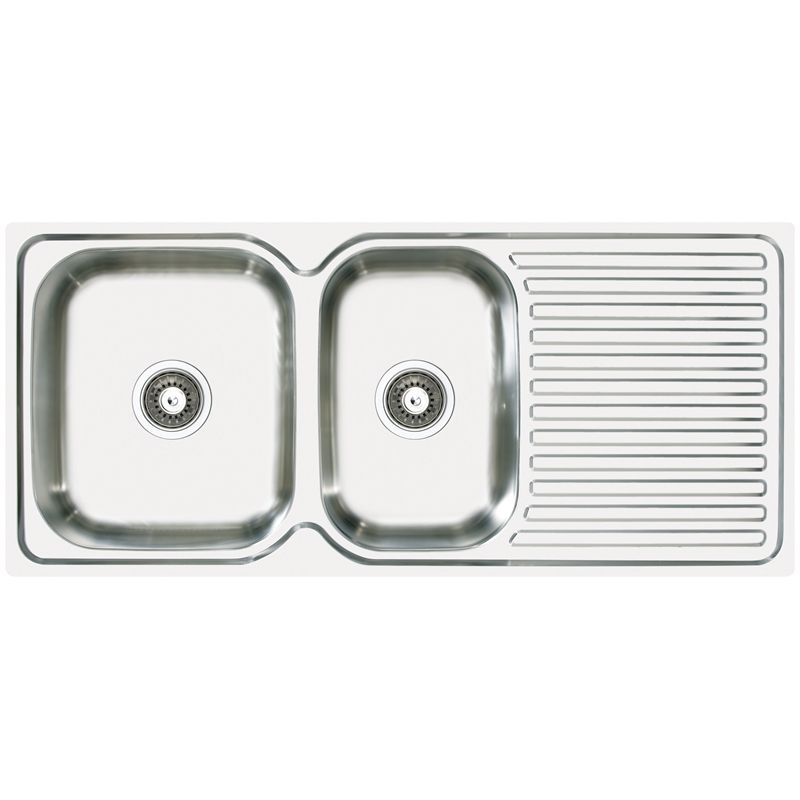 Abey stainless steel 175 bowl single drainer lhb stainless steel abey 175 single bowl stainless steel sink lh in 5110073 bunnings warehouse workwithnaturefo