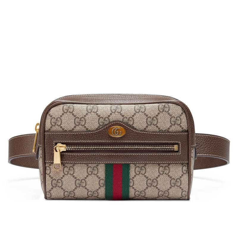 9e8fe6e8cff1ab GUCCI OPHIDIA GG SUPREME SMALL BELT BAG. #gucci #bags #belt bags #canvas  #suede #lining #