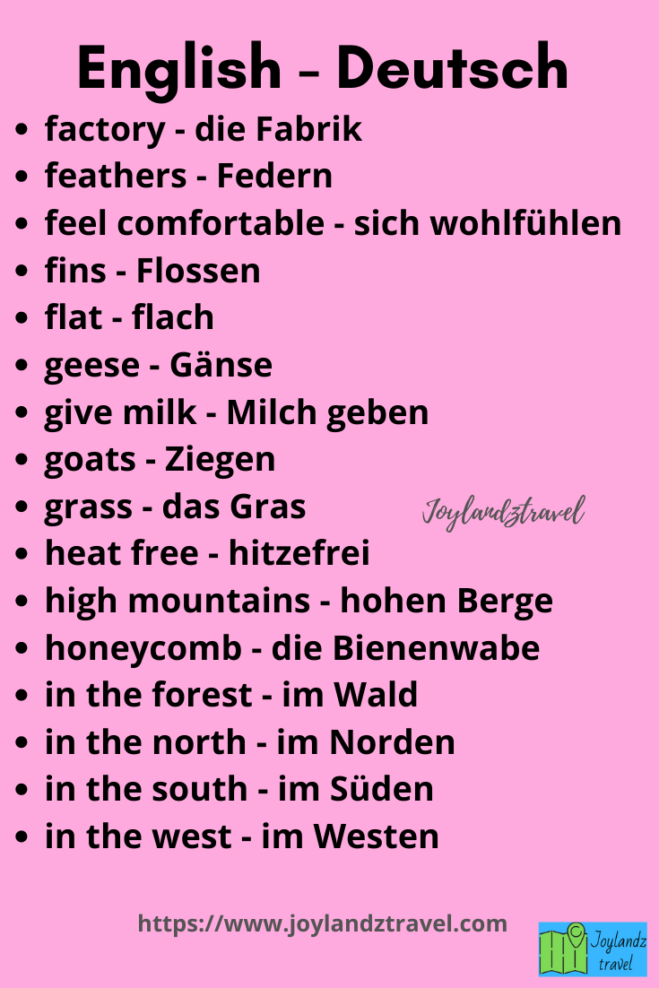 Nature learn german words