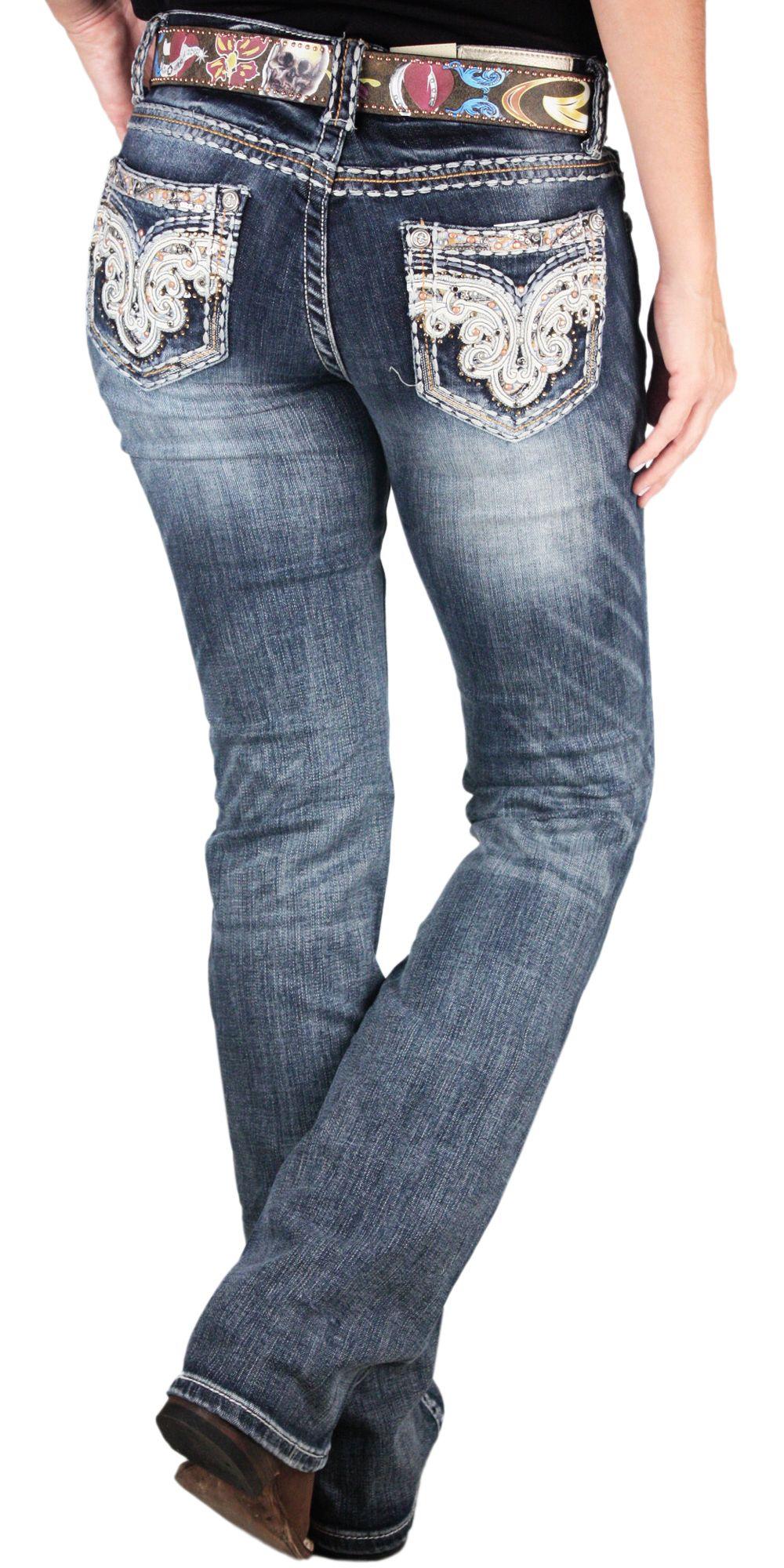 Calça Grace In La Feminina Importada Paisley Pockets Azul Escuro Boot Cut  Calça Grace In La 14ddce16072