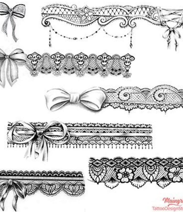Pin By Taltha Motter On Garter Tattoo Design And Ideas Lace Garter Tattoos Lace Tattoo Design Garter Tattoo